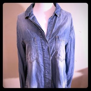 Cloth & Stone Denim Top from Anthropologie